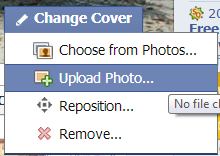 How to change facebook cover image