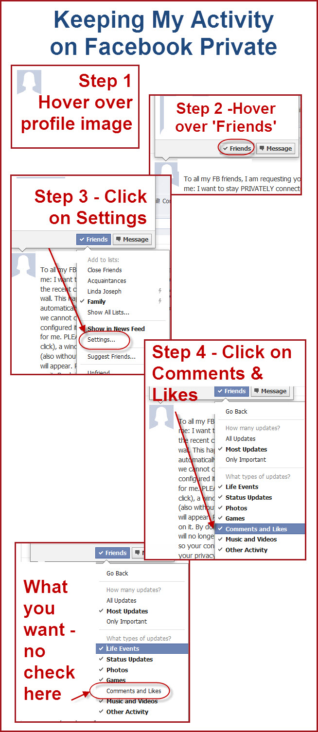 how to keep my activity on facebook more private