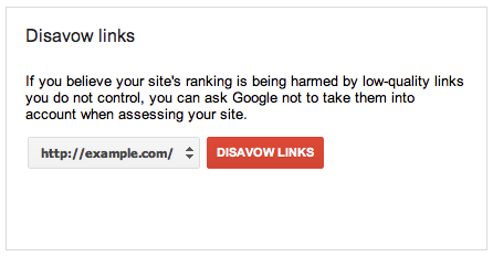 New webmaster tool from Google to get rid of spammy back links