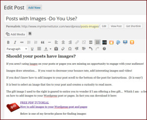 Edit Images WordPress Posts Pages